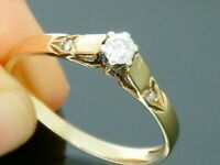9ct Gold Diamond Solitaire Hallmarked Ring size O