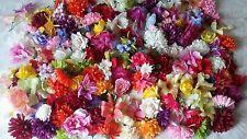 50x Mix FLOWER HEADS artificial fake silk flowers joblot craft wedding Rose Etc