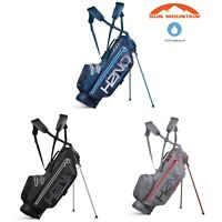 SUN MOUNTAIN 2019 H2NO SUPER LITE WATERPROOF DUAL CARRY STRAP GOLF STAND BAG