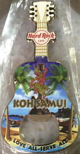 Hard Rock Cafe KOH SAMUI 2016 Guitar MAGNET Bottle Opener City Tee T-Shirt NEW!