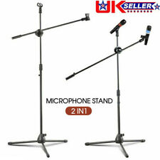 Adjustable Microphone Stand Boom Arm Bulk Package Studio Tripod Mic Clip Black