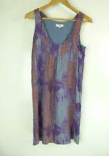 JAG Dress Sz 8 Purple, Blue Print Hippy Boohoo Beach