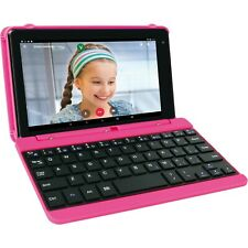 "RCA Voyager Pro 7"" 16GB Tablet with Keyboard Android Go Edition (8.1), Pink"
