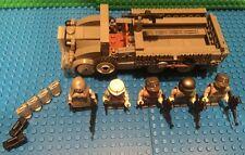 Custom Lego WW2 Waffen SS Kfz 70 6 X 4 Truck W/ 5 special german soldiers