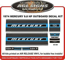 1974 MERCURY KIEKHAEFER 9.8 hp 110  DECALS  reproductions stickers