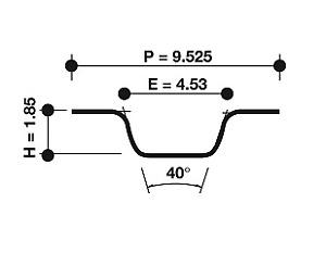 Dayco Timing Belt 94017 fits Audi 80 1.3 (B1) 40kw, 1.3 (B1) 44kw, 1.3 (B2) 4...