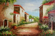 Tuscany Italy Landscape - 7, Quality Hand Painted Oil Painting, 24x36in