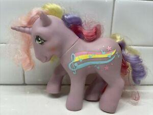Vintage Hasbro 1985 G1 My Little Pony STREAKY Rainbow Curl Unicorn Purple MLP