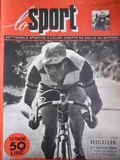 SPORT ILLUSTRATO n°3 1951  con pagina Poster del Fausto Coppi    [G39]
