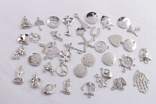 40PCS Mixed Lots of Silver Tone Metal Charm Pendants