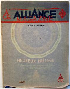 LIVRE d'OR -1939/40 - A.C.E. - RARE - 12 pages sur cartoline - 24 x 31 cm