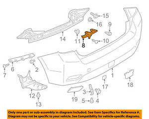 SUBARU OEM 12-15 Impreza Rear Bumper-Center Bracket Left 57707FJ090