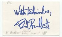 Ed Broadbent Signed 3x5 Index Card Autographed Signature Politician