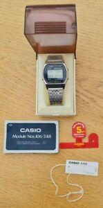 Vintage Casio Digital Watch Japan Mod. 248 Model A255 With Original Box 1980's
