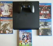 CONSOLE PS4 SLIM 1TB + JOYPAD CONTROLLER PLAYSTATION 4 +5 GIOCHI FIFA COME NUOVA