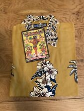 Mambo Loud Shirt ..VINTAGE .. Tobacco Hula New Medium Lot5