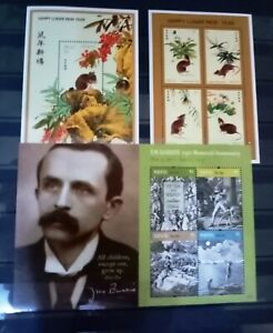 COLLECTION OF 3 MINI SHEETS FROM NEVIS - MNH/UNUSED (SEE SCAN). INC J M BARRIE