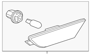 Genuine GM Side Marker Lamp 10367131