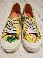 Girls Rocket Dog Size 2 slip on tennis shoe. Pineapples