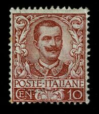 IT6995 - 1901 Regno Floreale 10cent Sas.71 nuovo MH/*