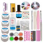 Pro Nail Art Set Acrylic Glitter Powder Glue File French UV Gel Tips Kit Set