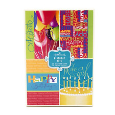 Hallmark Assorted Birthday Greeting Cards Bright Icons, 12 Cards and Envelopes