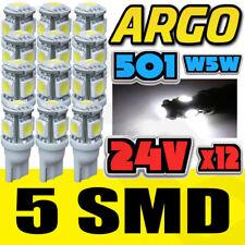 12 X Weiß 24V Barhäuptig Hella Scheinwerfer 505 W3W 5 SMD T10 Keil Lampen Lkw
