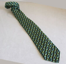 Diseñador Ted Baker Hermoso 100% Puro Seda Corbata Pajarita de hombre verde poste libre