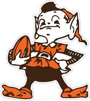 "Cleveland Browns ELF Color Die Cut Vinyl Decal Sticker  -You Choose Size 2""-28"""