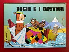 YOGHI E I CASTORI Auguri Mondadori (1° Ed 1975) Libro POP UP ANIMATO