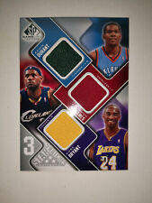 KOBE BRYANT LEBRON JAMES KEVIN DURANT 2009-10 SP GU 3 STARS SWATCHES /299
