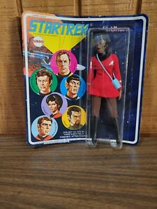 Vintage Mego Star Trek Lt. Uhura Figure 1974 on Original Card Clean, (S4)