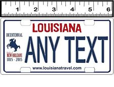 CUSTOM PERSONALIZED BICYCLE MINI STATE LICENSE PLATE-LOUISIANA N.O. BICENTENNIAL
