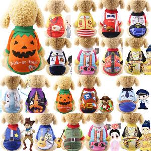 Pet Funny Halloween Clothes Dog Puppy Jumper Sweater Coat Jacket Cat Winter Warm