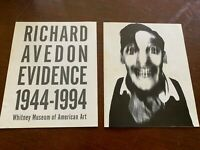 2 Vintage Booklets Richard Avedon Evidence 1944-1994 Whitney Museum 14 Pages