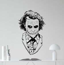 Joker Wall Decal Nursery Art Comics Superheroes Vinyl Sticker Decor Mural 10zzz