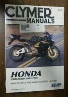 2003-2006 Honda CBR600RR Repair Manual Clymer M220 Service Shop Garage