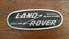 Land Rover Série Solihull Warwickshire plaque insigne Complet avec Kit de Fixation