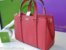 NEW KATE SPADE RED SMALL LODEN Newbury Lane BAG  Safiano Leather BOXED GIFT