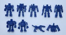 RARE LOT OF 9 TRANSFORMERS FIGURES MEXICAN PREMIUM TOYS AUTOBOTS BLUE DARK COLOR