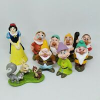 Vintage Snow White & the Seven Dwarfs PVC Figure Lot Disney Animals Cake Topper