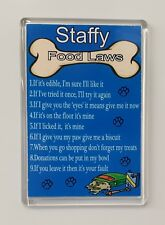 STAFFY DOG FOOD LAWS/RULES Funny/Novelty Fridge Magnet - Ideal Gift/Present