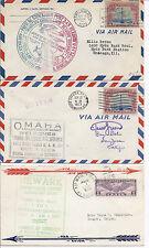 1929 & 1931 Us Cover Lot of 3 - Endurance Flight, Night Flight, Ffc - Biplane*