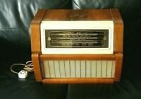 Regentone Vintage Radiogram Multi 99 c. 1956 Record Player Radio Valve Wooden