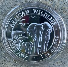 2015 1 Oz. .999 Silver Somalia Elephant African Wildlife 100 Shillings Coin