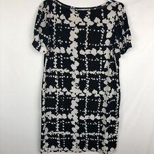 Dressbarn Women's Dress Size 10 Black & white stretchy shift