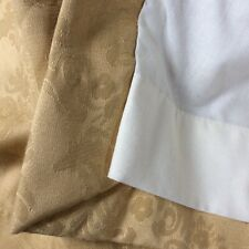 Huge Gold Damask Lined Curtains, 136w  x 84l , Lined, FREEPOST