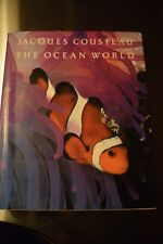Jacques Cousteau The Ocean World Hardcover Book Coffee Table 1985 Sea Life Fish