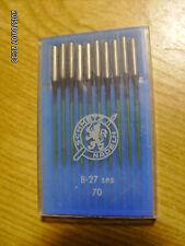 10 pc Schmetz sewing machine needles B-27 Ses Nm 70 Blukold coated
