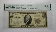 $10 1929 Sonora Texas TX National Currency Bank Note Bill! Ch. #5466 VF25 PMG